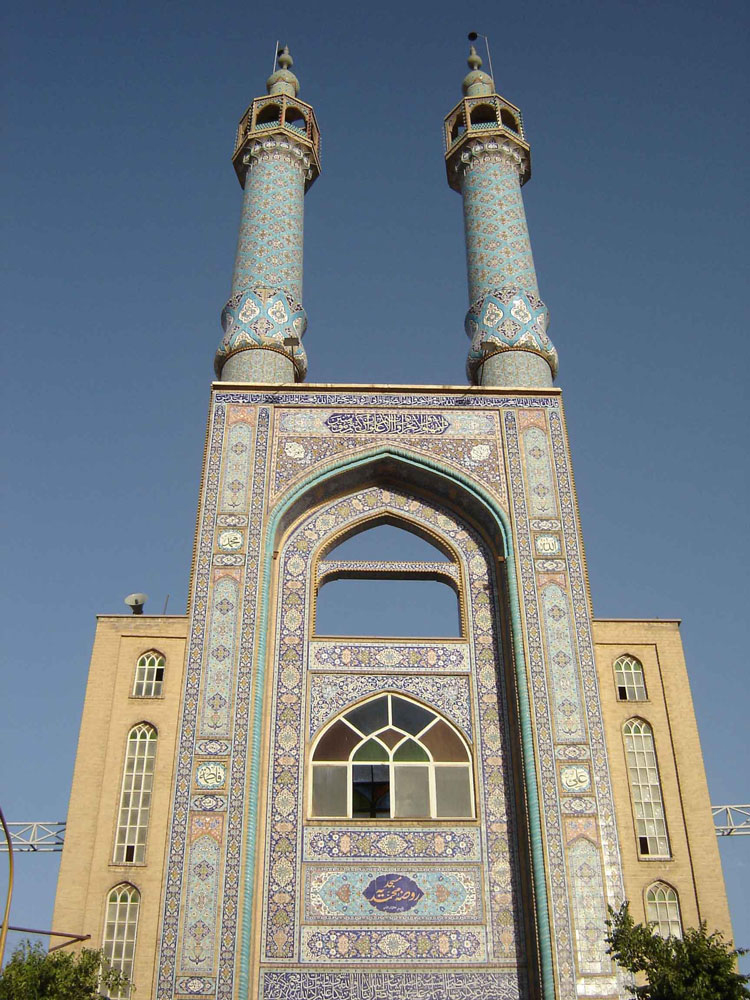 سردر و مناره های مسجد حظیره یزد (روضه محمدیه)