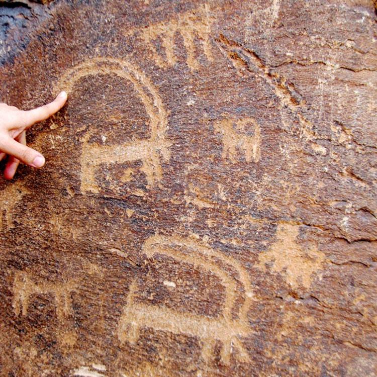 سنگ نگاره های کوه ارنان مهریز