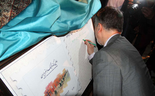 افتتاح اولین گذر فرهنگ و هنر کشور ، صالحی وزیر فرهنگ ، استان یزد ، مازاری ها ، کوچه مازاری ها