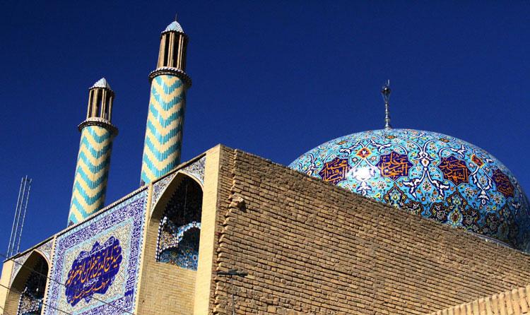 نمای امامزاده سید تاج الدین یزد (سید پنهون)