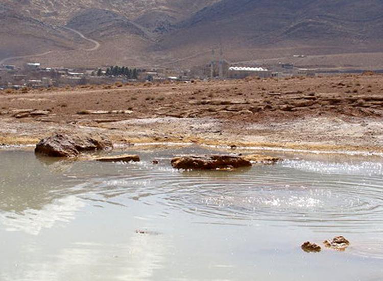 چشمه جوشان آب قل اشکذر