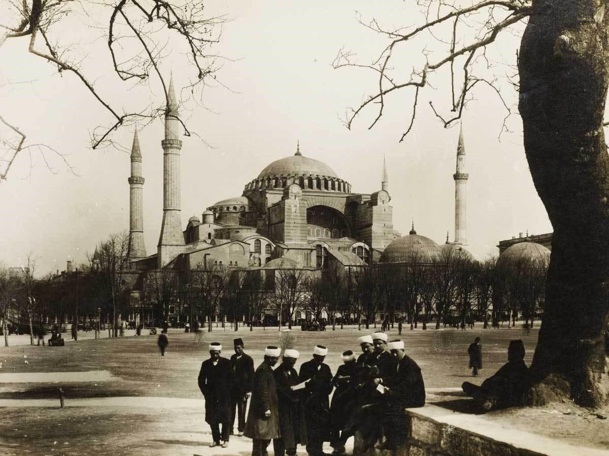 تصویر قدیمی از مسجد ایاصوفیه