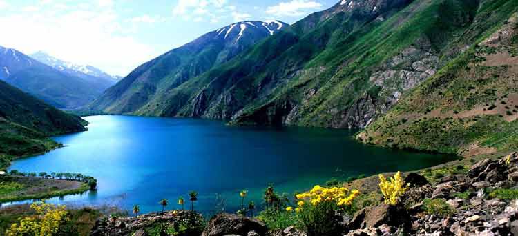Gahar Lake, A Mountainous Lake in Iran