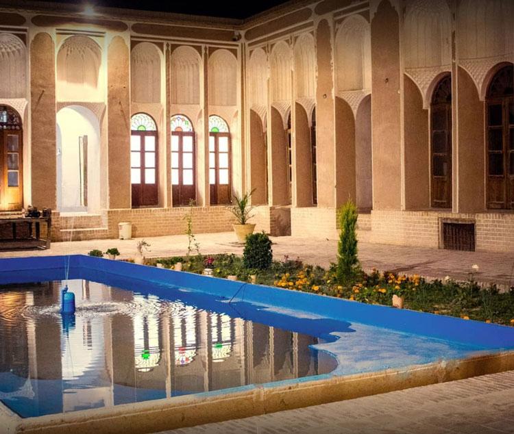 نمایی از خانه تاریخی حیرانی یزد