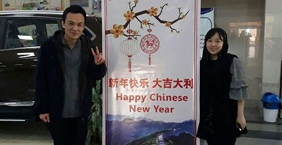 نصب پیام تبریک سال نو به زبان چینی در فرودگاه های کشور