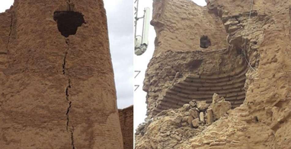 ریزش قلعه تاریخی فهرج