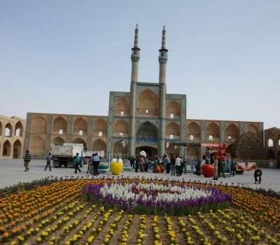 برپایی بزرگترین سفره هفت سین ایرانی در یزد