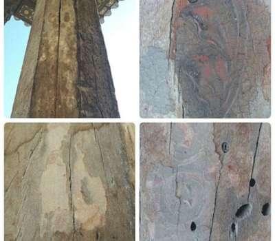 کشف تزیینات چند صد ساله ی کاخ عالی قاپو از زیر گرد و غبار