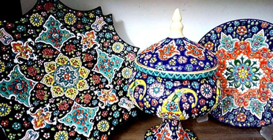 صنایع دستی فیروزه آبی یزد